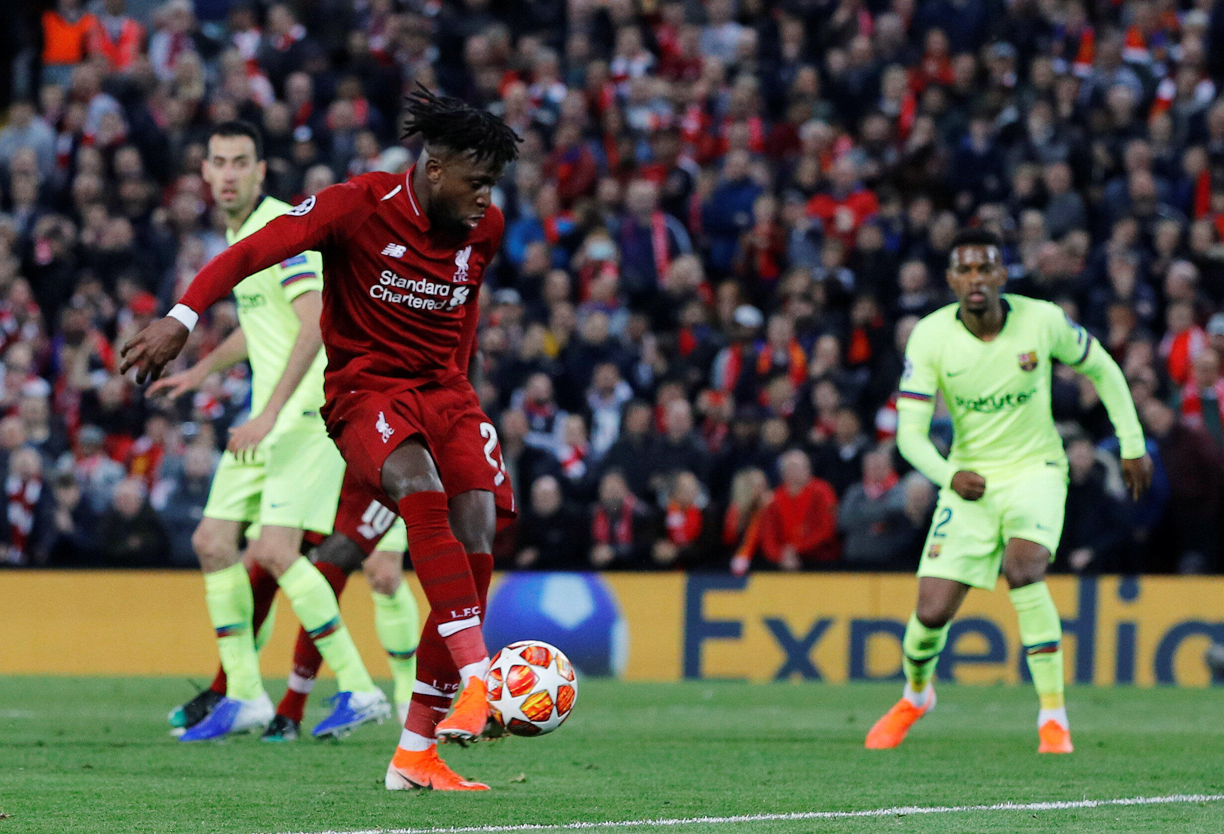 Divock Origi scored Liverpool's first and fourth goal in the 4-0 destruction of Barcelona.