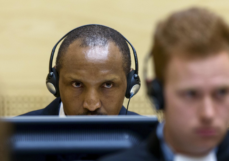 Kiongozi wa wanamgambo DRC Bosco Ntaganda, Septemba 2, 2015, wakati wa ufunguzi wa kesi yake mbele ya Mahakama ya Kimataifa ya Uhalifu, Hague.