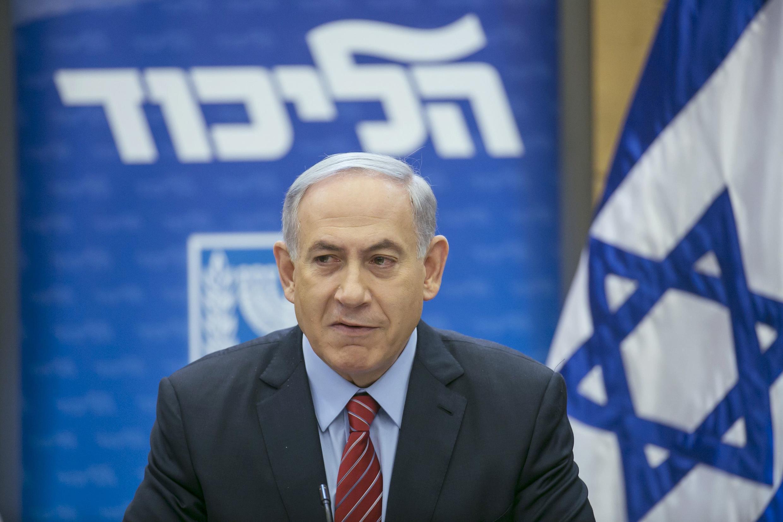 Waziri mkuu wa Israel, Benjamin Netanyahu, akinyooshea kidole cha lawama Mahakama ya Umoja wa Ulaya.
