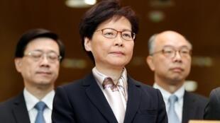 香港特首林郑月娥宣布撤回修例中国舆论错愕