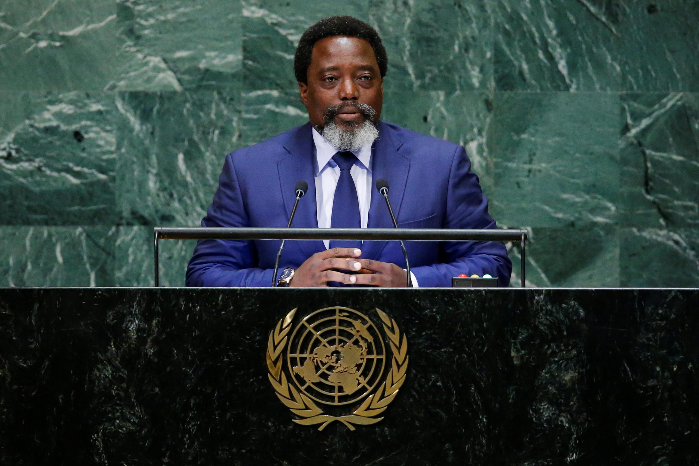 Rais wa DRC Joseph Kabila kwenye jukwaa la Umoja wa Mataifa, Septemba 25, 2018.