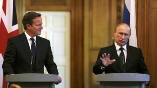 Пресс-конференция Дэвида Кэмерона и Владимира Путина в Лондоне, 16 июня 2013