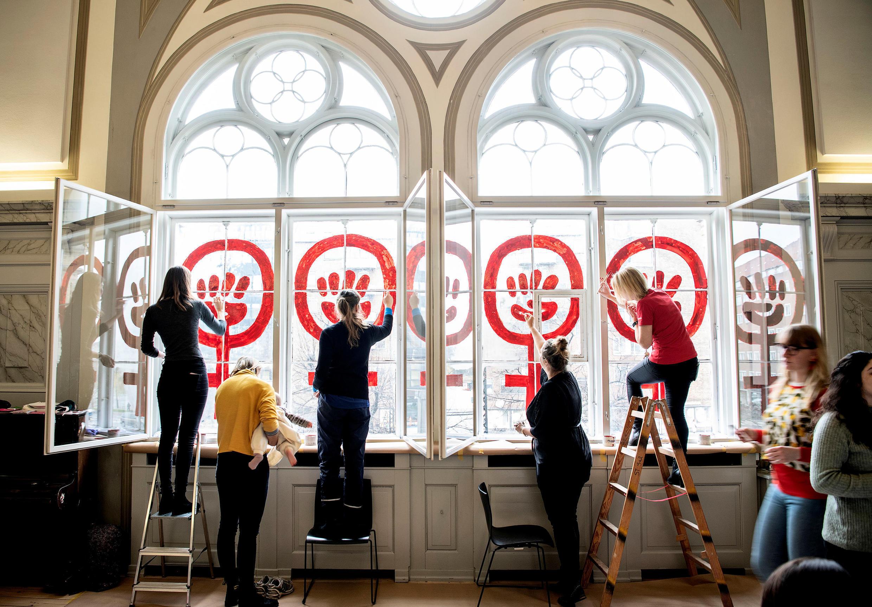 Феминистки в Копенгагене готовятся к 8 марта 2019 г.