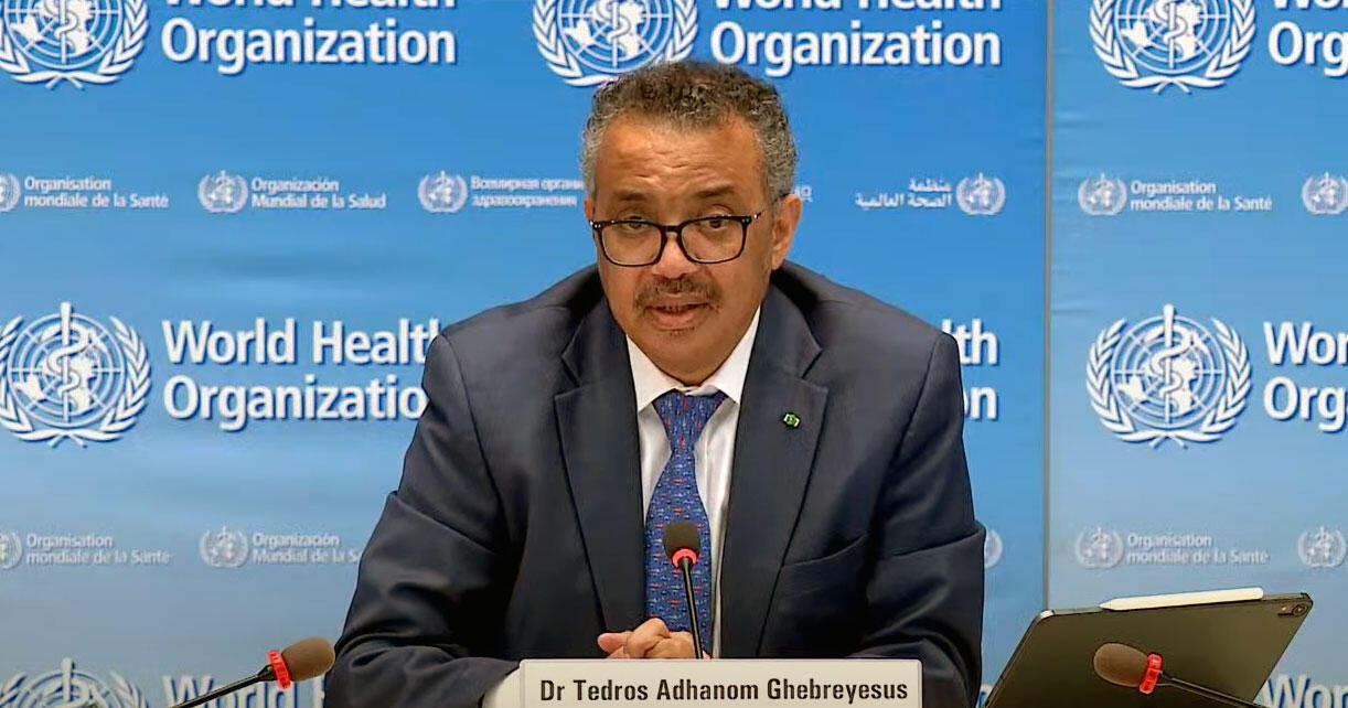 O diretor da organização Mundial da Saúde (OMS), Tedros Adhanom Ghebreyesus