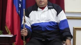 Shugaban kasar Venezuela, Hugo Chavez zaune a fadar gwamnati