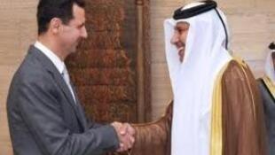 Rais wa Syria na Hamad wa Qatar