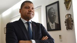 Jean-Louis Billon, un des secrétaires exécutifs du PDCI et ancien ministre du Commerce d'Alassane Ouattara. Le 27 mars 2018 à Abidjan.