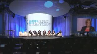 Capture d'écran d'une vue du 1er sommet international des coopératives 2012 à Québec, au Canada.
