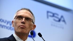 Carlos Tavares, chairman of the managing board of French carmaker PSA Peugeot Citroen