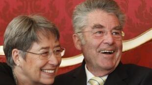 Shugaba Heinz Fischer na Austria da matar sa