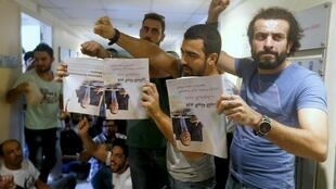 Protesters occupy the Ministry of the Environment in Beirut, demanding the resignation of cabinet minister Mohammed Mashnuq, 1 September 2015
