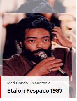 Le cinéaste Med Hondo (capture d'écran du site du fespaco) est décédé à Paris le 2 mars 2019.