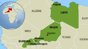 區域地圖:利比亞-尼日爾-布基納法索