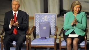 刘晓波缺席2010年度诺贝尔和平奖颁奖仪式。