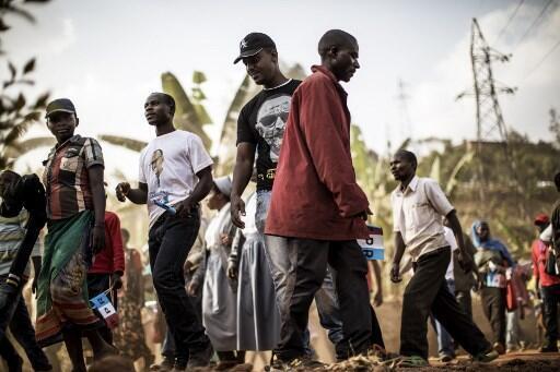 Des habitants de Gakenke, ici lors d'un meeting électoral en 2017 (photo d'illustration).