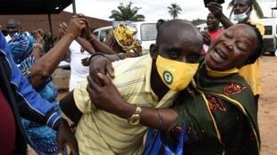 La satisfaction des partisans de Godwin Obaseki après sa réélection comme gouverneur de l'Edo, le 20 septembre 2020.