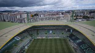 """Vua aérienne du stade Alvalade de Lisbonne, qui doit accueillir le """"Final 8"""" de la Ligue des champions, le 17 juin 2020"""