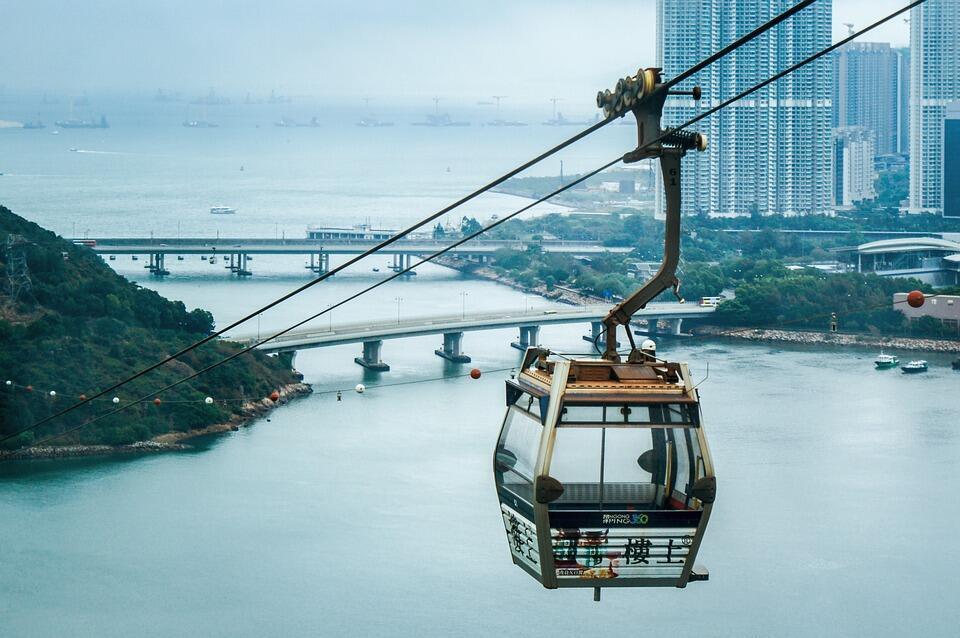 Khu vực Đại Tự Sơn (Lantau) của Hồng Kông, nơi dự định xây đảo nhân tạo.