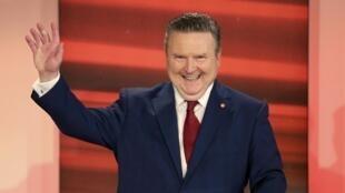 Le maire social-démocrate de Vienne Michael Ludwig lors d'un débat télévisé le 11 octobre 2020.
