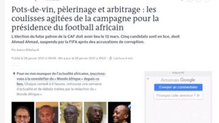 Les candidats à la présidence de CAF vue par le Monde Afrique