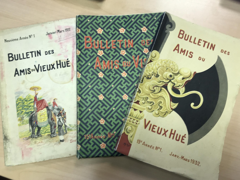 Kỷ yếu Bulletin des Amis du Vieux Huế, thư viện IRFA, ngày 29/01/2020.