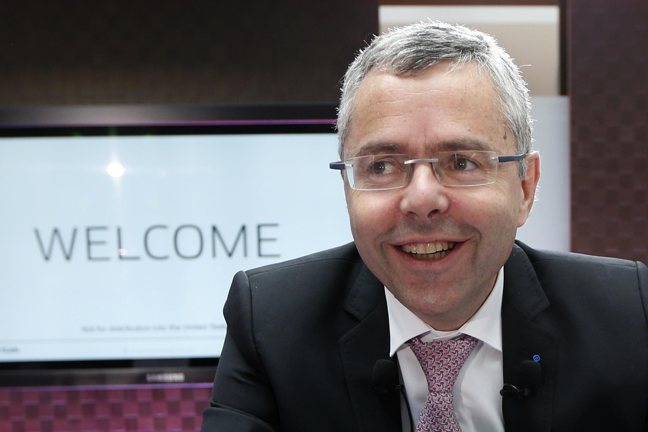 Президент и гендиректор Alcatel Lucent Мишель Комб (Michel Combes) после своего назначения летом 2013.