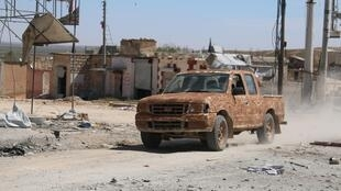 Quân nổi dậy Syria tiến vào Alep ngày 02/04/2016.