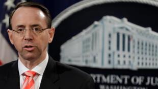 El fiscal general adjunto de Estados Unidos Rod Rosenstein.