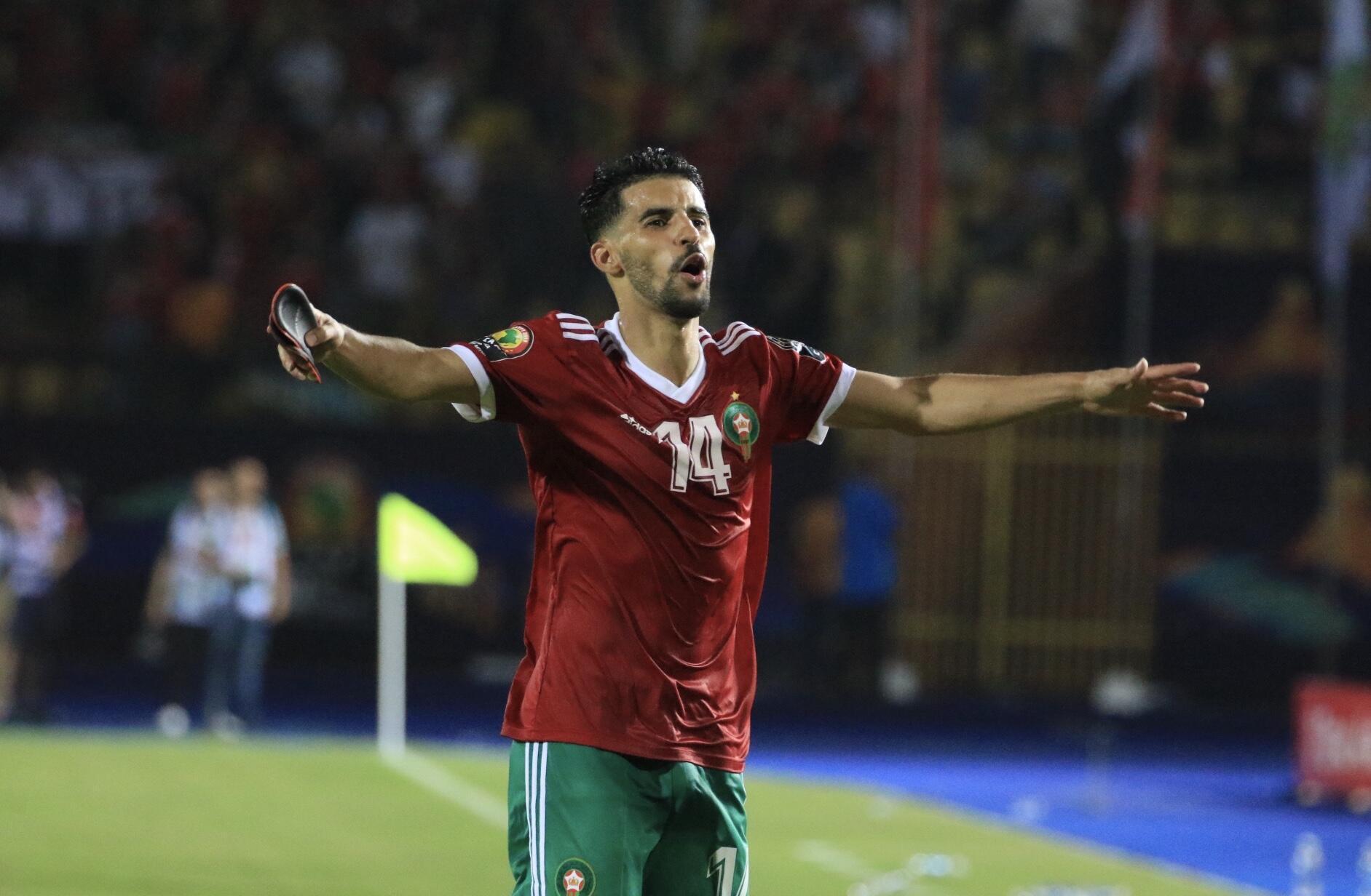 Le Marocain Mbark Boussoufa durant la CAN 2019.