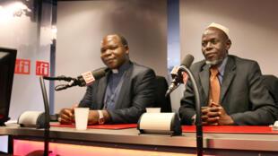 L'archevêque de Bangui Dieudonné Nzapalainga et l'imam Omar Kobine Layama, chef de la conférence islamique.