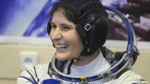 Samantha Cristoforetti en el Cosmódromo de Baikonur, el pasado 23 de noviembre.