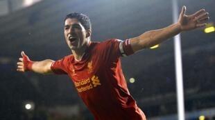 Luis Suarez na Liverpool wanda ya jefa kwallaye a ragar Tottenham