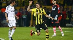 Robert Lewandowski apontou quatro golos frente ao Real Madrid na primeira mão das meias-finais da Liga dos Campeões.