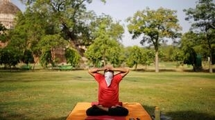 Dans un parc à New Delhi, en Inde, le 31 mai 2020.