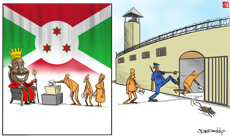Zaben jin ra'ayin mutanen  kasar Burundi dangane da tsawaita Shugabancin  Pierre Nkurunziza (17/05/2018)