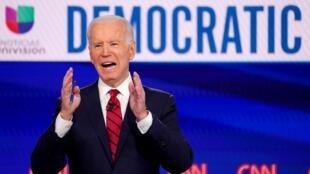 Le candidat démocrate à la présidentielle américaine, Joe Biden, lors d'un débat sur CNN, le 15 mars 2020.