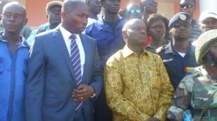 Domingos Simões Pereira (futuro primeiro-ministro) e José Mário Vaz (presidente) em Bissau
