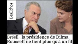 Les Echos analisa o rompimento anunciado do PMDB com o governo Dilma.