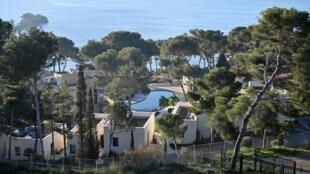 Khu nghỉ dưỡng thuộc Club Vacanciel ở Carry-le-Rouet, gần Marseille, nơi kiều dân Pháp từ Vũ Hán về được cách ly theo dõi virus corona, ngày 31/01/2020.