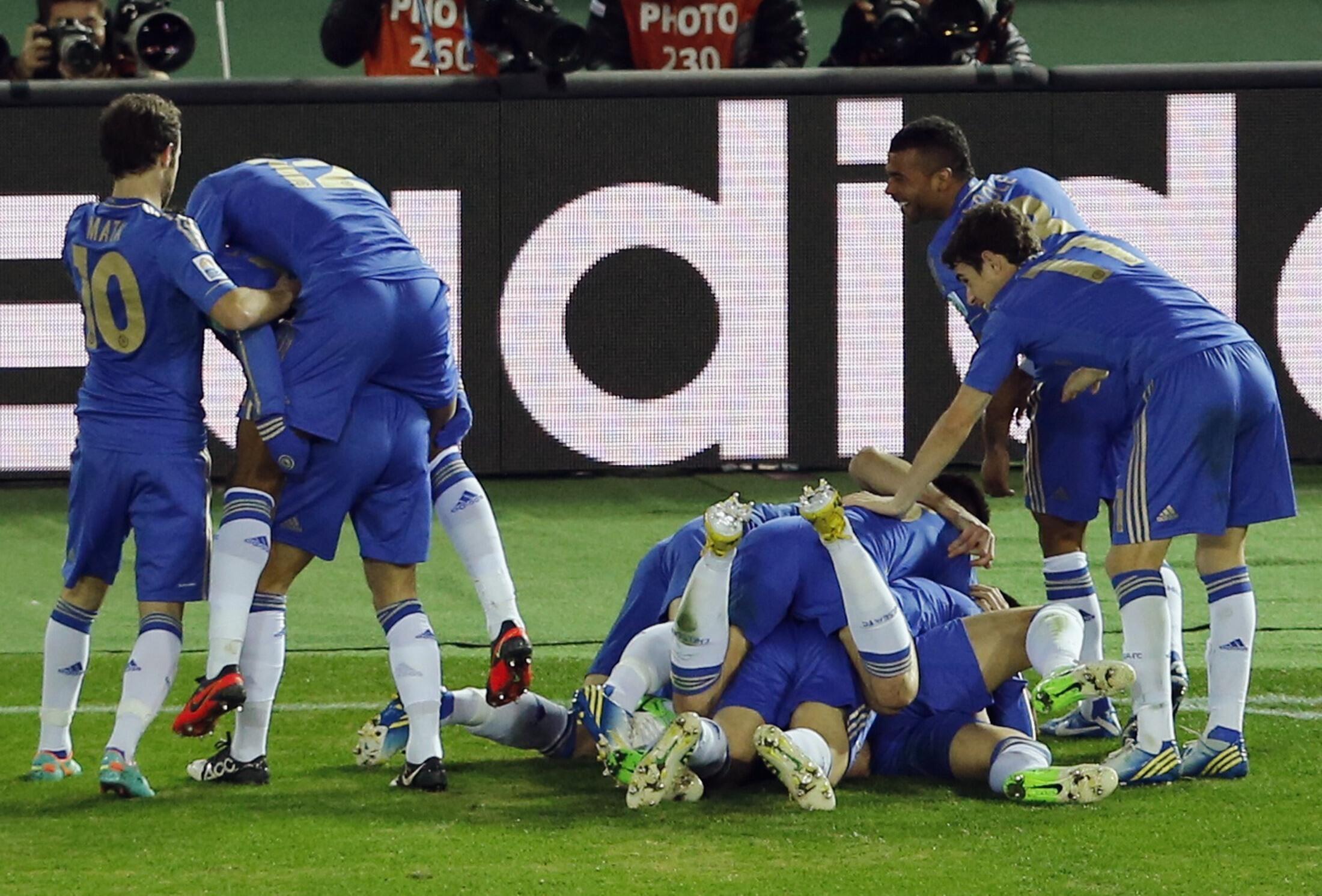 Wachezaji wa klabu ya Chelsea wakisherekea baada ya kupata ushindi dhidi ya Monterrey katika mechi ya tarehe 13 mwezi huu