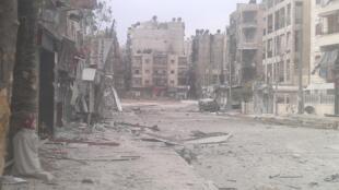 Prédios destruídos por forças leais ao presidente Bashar al-Assad, na cidade de Aleppo
