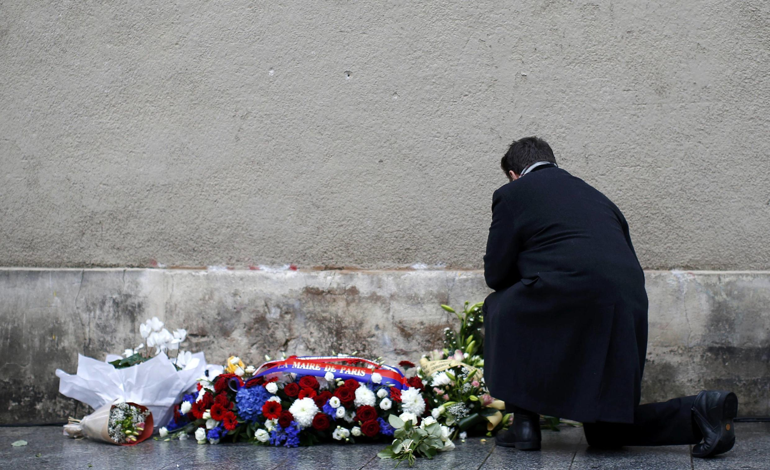 A ceremony in homage to the victims of the Paris attacks on their anniversary last year
