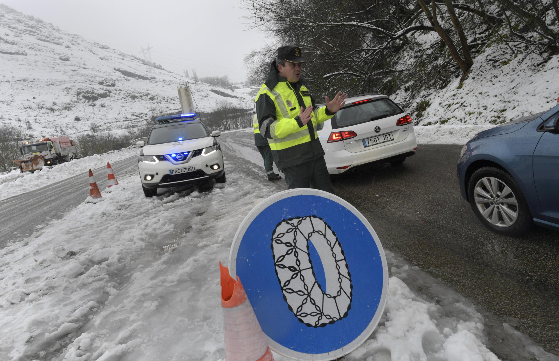 Situação ficou complicada nas estradas espanholas.