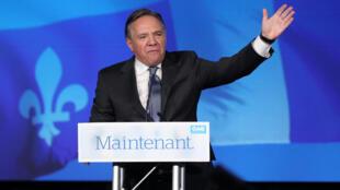 El primer ministro de Quebec François Legault se encuentra en las antípodas de la posición liberal y multicultural que defiende el primer ministro de Canadá, Justin Trudeau.