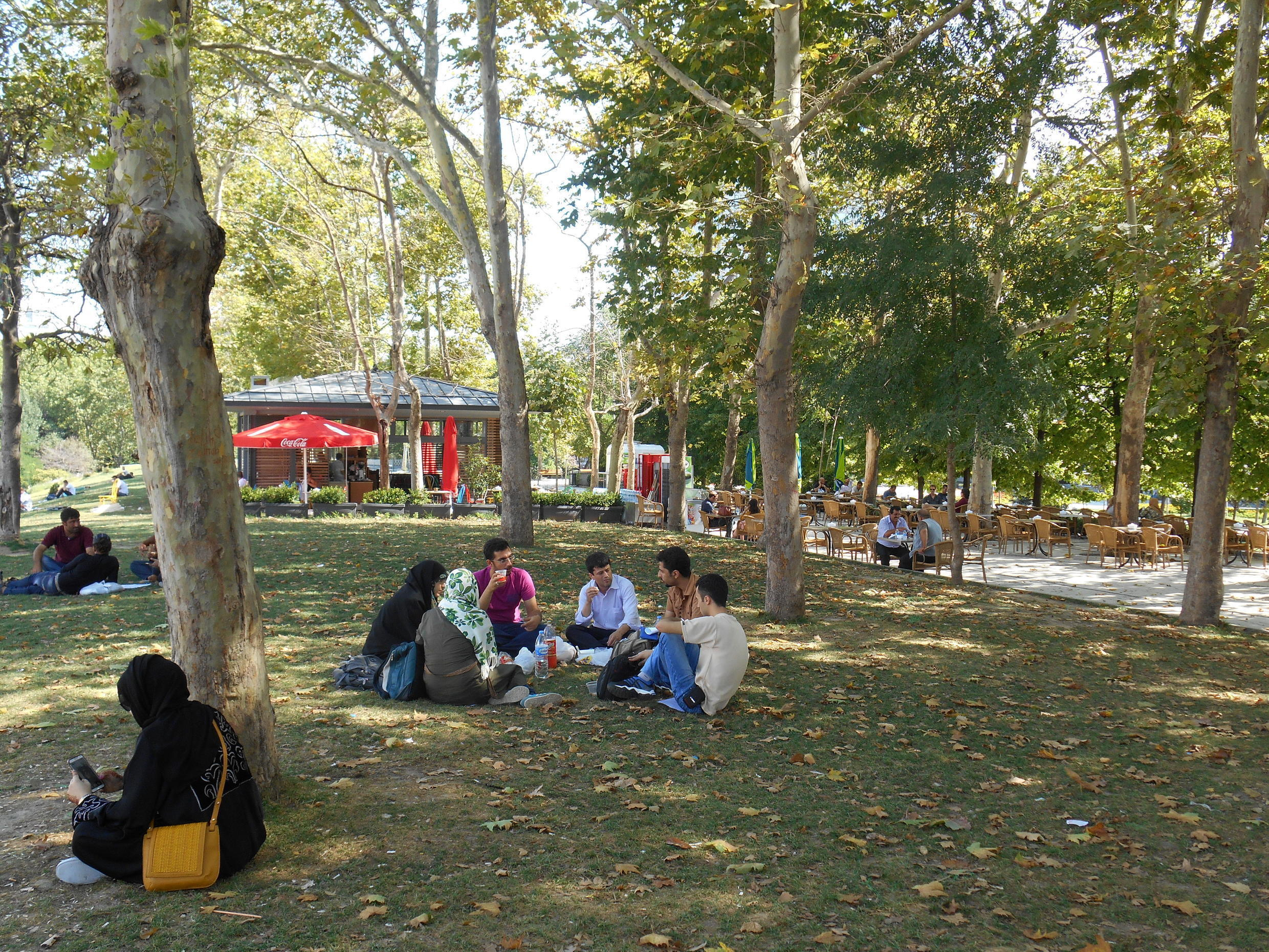 Gezi Park a year after the protests against its redevelopment