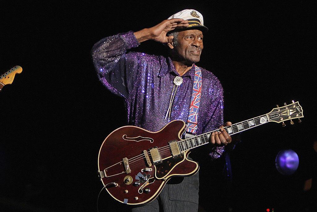 Chuck Berry en concert au Zénith, Paris, le 14 novembre 2008.