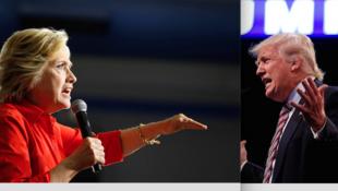 Hillary Clinton ta Democrat da Donald Trump na Republican