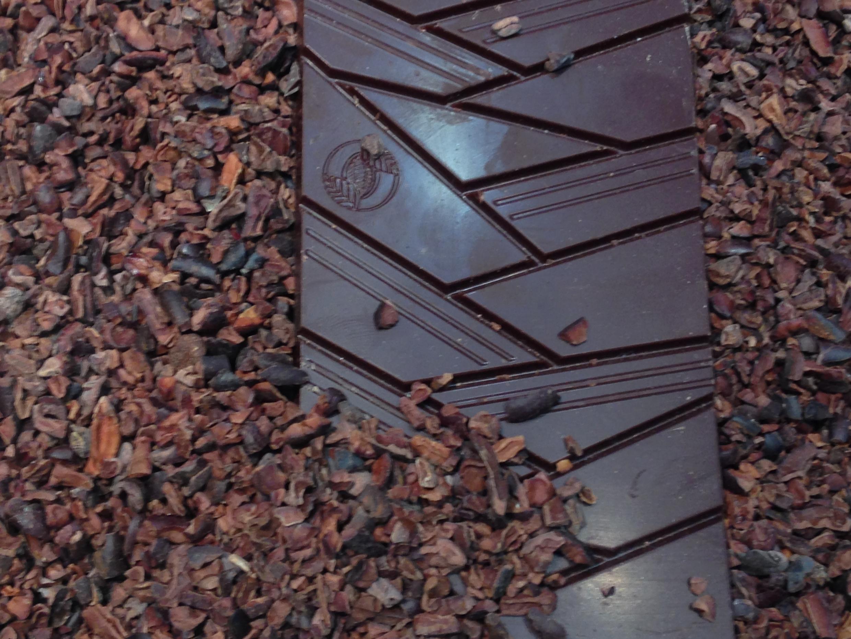 Chocolate produzido em São Tomé.