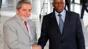 Lula da Silva e José Eduardo dos Santos.