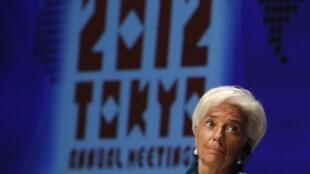 Christine Lagarde, la directora gerente del FMI, este 11 de octubre de 2012 en Tokio.